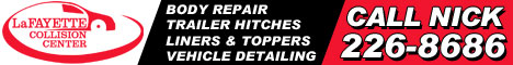 Call Nick at LaFAYETTE Collision - 226-8686 - WeMeetByAccident.com