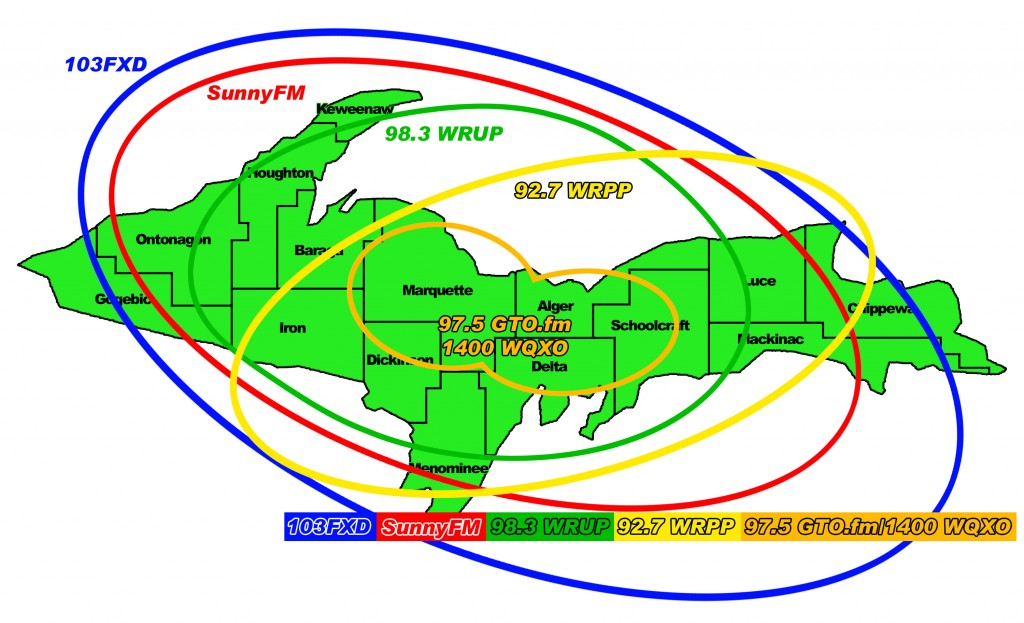 Great Lakes Radio Station Network Coverage Map