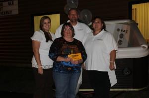 Hot Tub Giveaway Winner Marquette Ishpeming Negaunee Darnel Chevrette Rec Depot