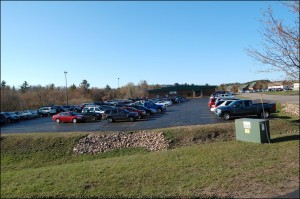 Fully Parking Lot at Country Lanes - Great Lakes Radio Mathews Floor Fashions New View Treatment Window Giveaway