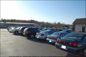 Two Really Full Parking Lots at Country Lanes for the Giveaway.