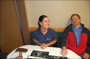 "Amy, Great Lakes Radio's Awesome Traffic Manager with The Country Extreme DJ, ""The Drive Home"" Joe"