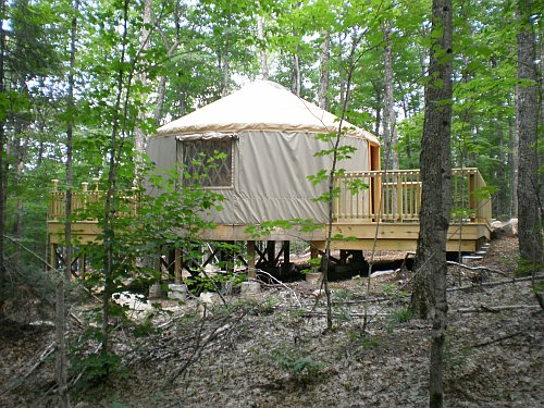 The newest yurt at Craig Lake State Park offers a deck as well as an ADA-accessible ramp