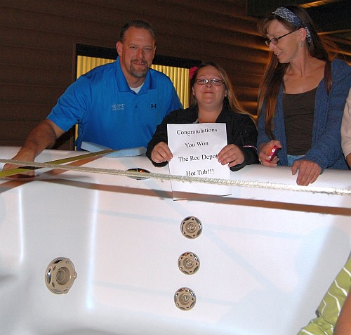 Brenda Nault of Ishpeming WINS Hot Tub - Click To View Full Story and Gallery of over 190 Photos!