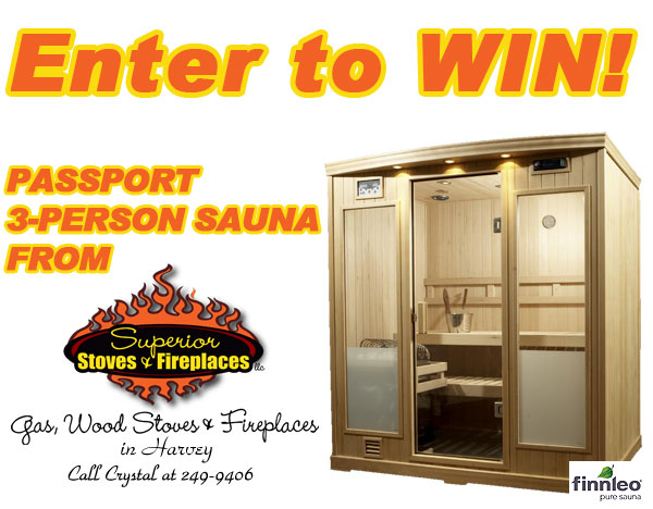 Win a portable sauna from Great Lakes Radio and Superior Stoves and Fireplaces