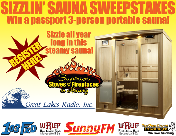 Get ready to sauna! Enter to win a portable sauna from Superior Stoves and Fireplaces