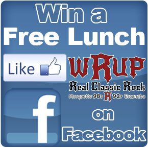 Like WRUP on Facebook for a chance to win a free lunch!