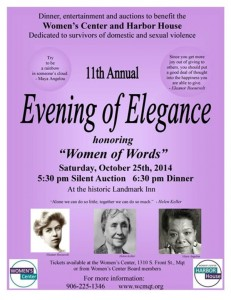 11th Annual Evening of Elegance honoring  -- Women of Words -- October 25th