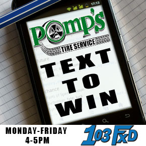 Text to Win with Pomps Tire!