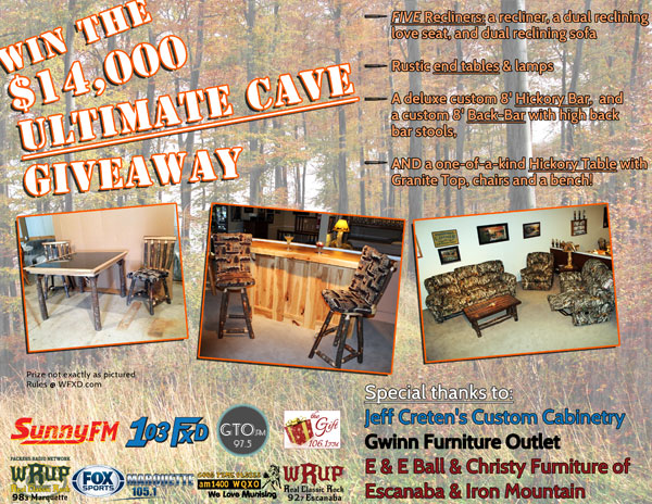 Enter our NEXT big giveaway - the $14,000 Ultimate Cave Giveaway