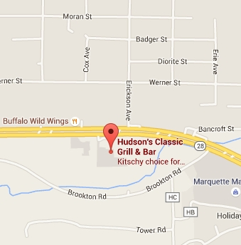 Eat at Hudson's Classic Bar and Grill in Marquette