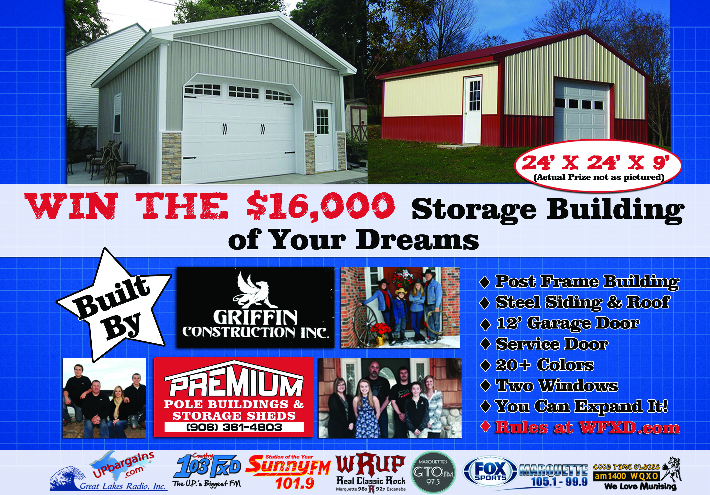 Great Lakes Radio invites you to register for the Storage Building of Your Dreams Giveaway!