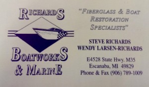 Richards Boatworks in Escanaba Michigan