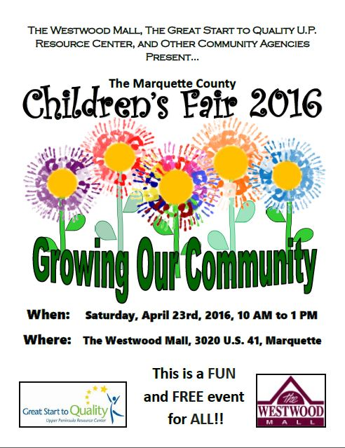 Marquette County Children's Fair April 23rd