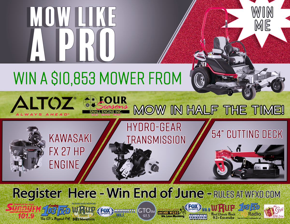 Mow Like A Pro Altoz Zero Turn Mower Giveaway | Upper Peninsula of