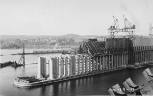 Ore Dock Construction 10-19-1931 1974.22.1(3) wm - Courtesy of the John M. Longyear Research Library
