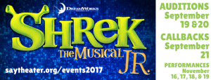Superior Arts Youth Theater - Shrek The Musical Jr. Auditions & Updates