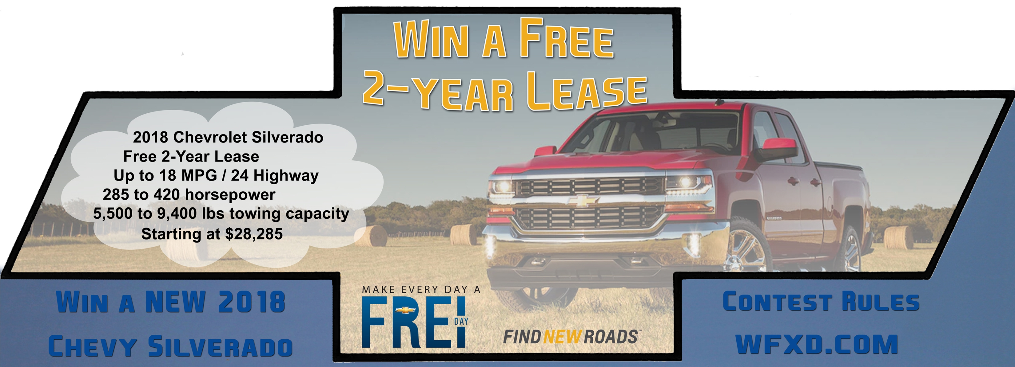 Win a new 2 Year Lease from Frei Chevrolet