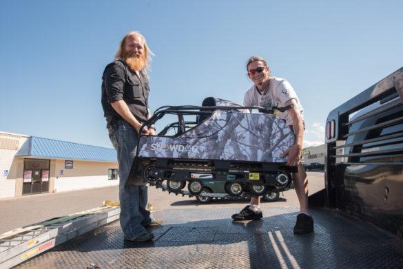 Luke Noordyk and Joe Mueller with the Snowdog Machine!