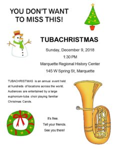 See information about the 2018 TubaChristmas Holiday Concert in Marquette