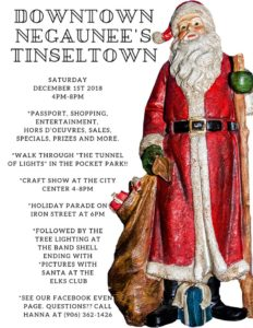 Check out the details for Negaunee's Tinseltown Celebration.