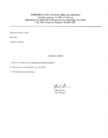 Ishpeming City Council Special Meeting