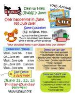 UPAWS Rummage Sale June 21-23