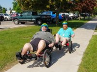 VA and UP SAIL Holding Adaptive Bike Clinic August 21