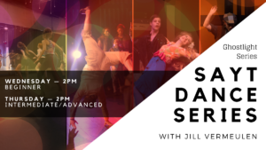 SAYT Dance Series Annie Week Beginner Wednesday June 10, 2020