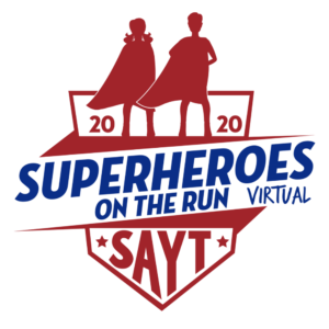 SAYT Superheroes on the Run Race is going Virtual now thru July 10, 2020!
