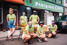 NMU Interns Assist Partridge Creek Farm July 23, 2020