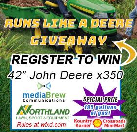 Win a John Deere x350 Riding Mower
