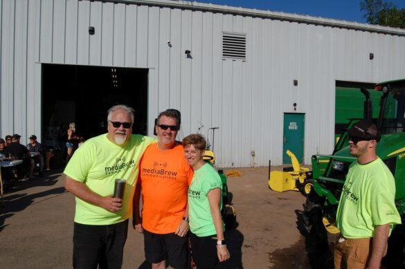 Walt, Mark, & Dawn at mediaBrew Runs Like A Deere Giveaway Party