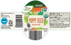 Drew's Organics, LLC Issues Voluntary Recall of Aldi Simply Nature Organic Poppy Seed Dressing September 17, 2021