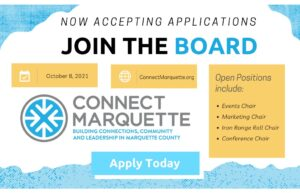 Connect Marquette Actively Accepting Applications for Board Members October 1, 2021